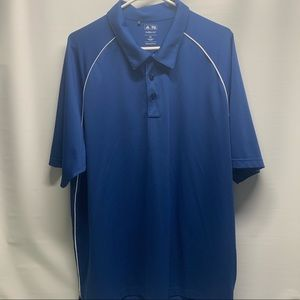 Men's Adidas ClimaLite 2XL Blue Golf Shirt
